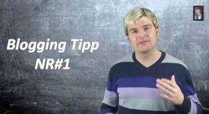 Blogging Tipp mit Beni